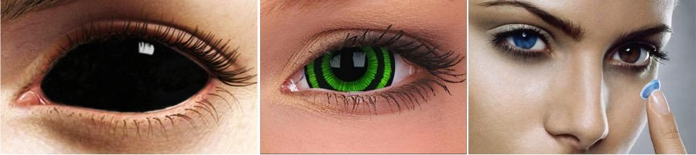Декоративные контактные линзы